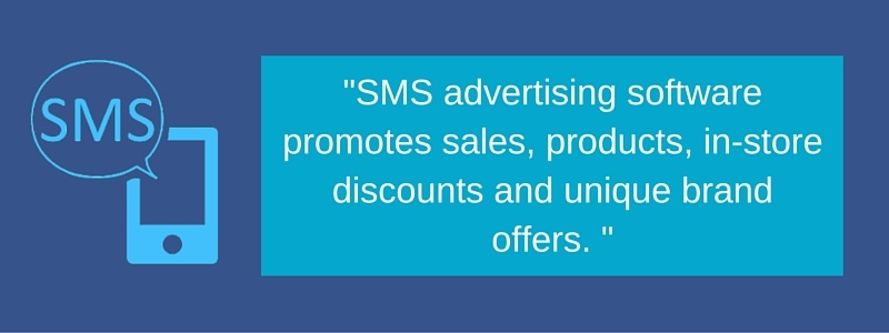What SMS Advertising Software Promotes