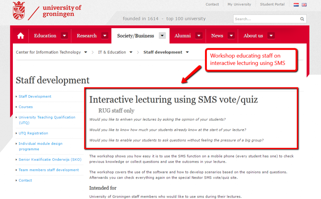 Text Messaging Idea #19 - Interactive Learning