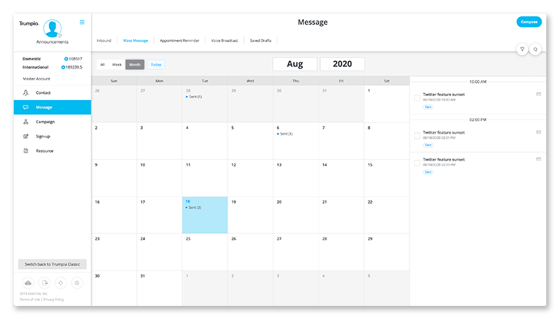 message-calendar-view